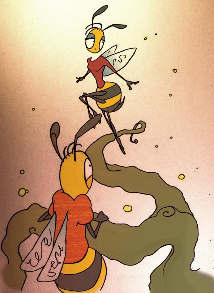 Csodálatos darázsderék .... Firnigel Kristóf illusztrációja