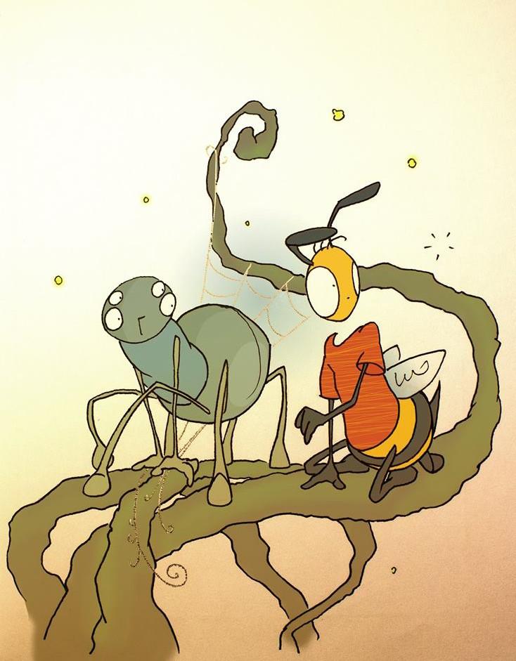 Balázsdarázs és a Pókgyerek - Firnigel Kristóf grafikája