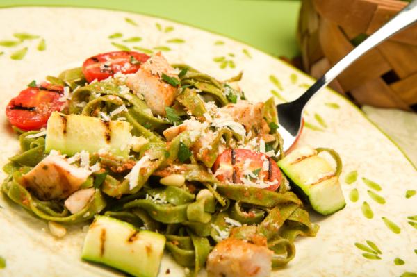 Tészta grillezett zöldségekkel - Egészségséf