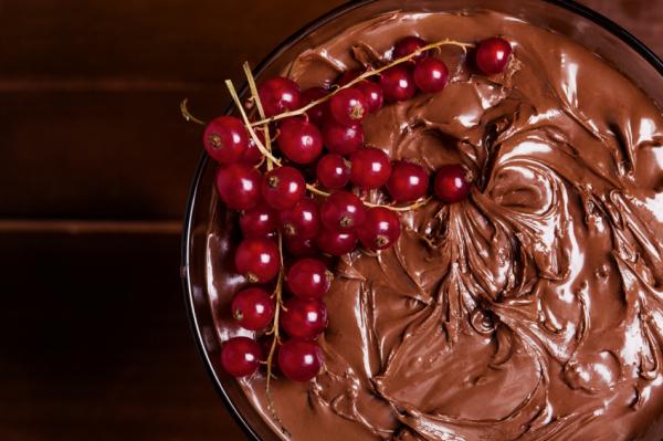 Csokikrém ribizlivel - Egészségséfünk receptje