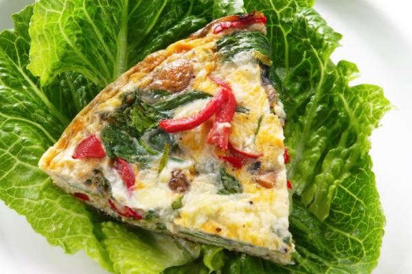 Spenótos, fetás omlett - Egészségséf