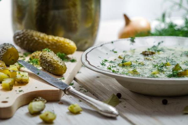 Kovászos uborka krémleves - Egészségséf