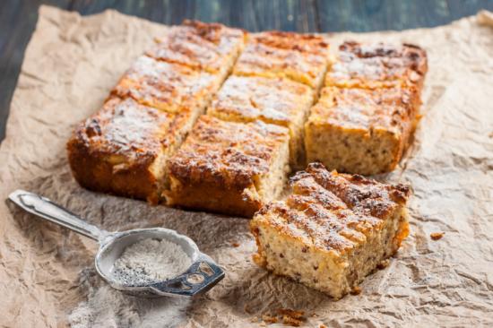 Szórt túrós süti - Egészségséf