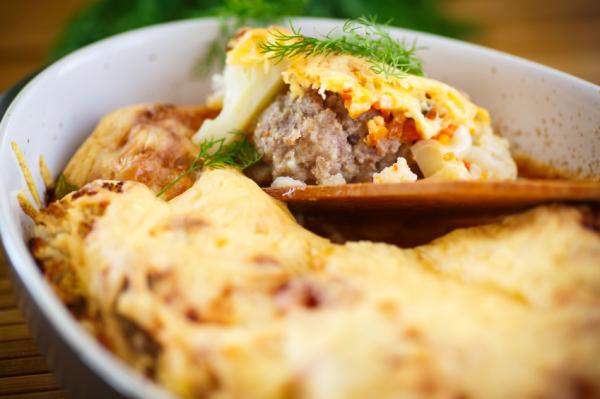 Csőben sült karfiolos húsgolyó - Egészségséf