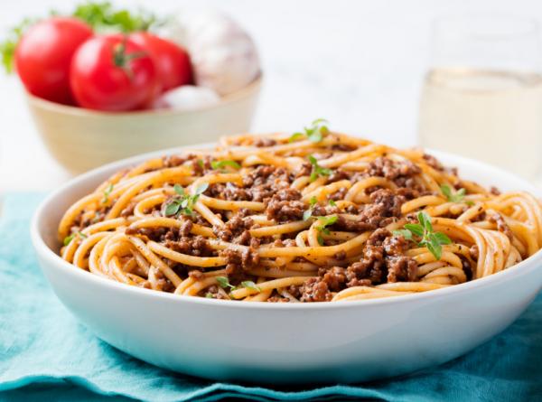Húsos zöldséges spagetti - Egészségséf