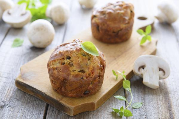 Gombás muffin - Egészségséf