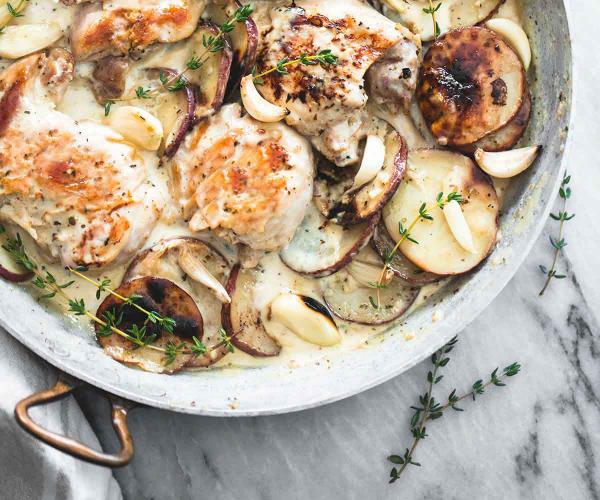 Krémes fűszeres csirke burgonyával – Egészségséf