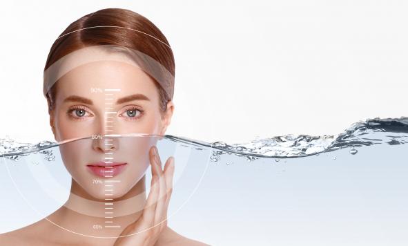 A hidratált és dehidratált bőr