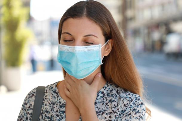 A maszk nem gyengíti a tüdő működését