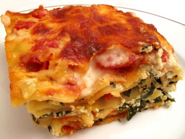 Spenótos-fetás lasagna - Egészségséf