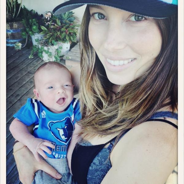 Az első kép Jessica Biel és Justin Timberlake babájáról