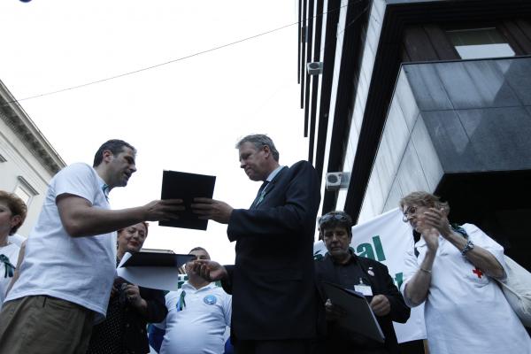 Budapesten tüntettek az egészségügyi dolgozók